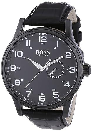 hugo boss watch 1512833 men quartz analogue dial black hugo boss watch 1512833 men quartz analogue dial black leather strap