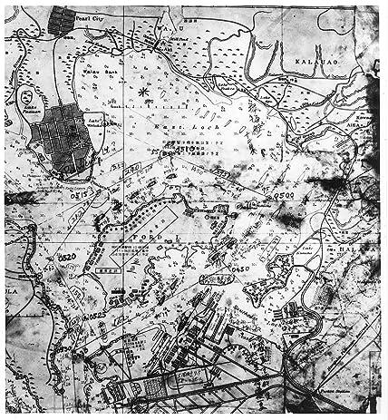 Amazon japanese map showing pearl harbor oahu hawaii usa japanese map showing pearl harbor oahu hawaii usa 1941 captured gumiabroncs Choice Image