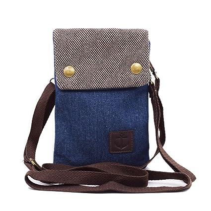 a5dac8372b WITERY Women Cute Candy Blue Crossbody Bag Cellphone Purse Mini Shoulder Bag  Cellphone