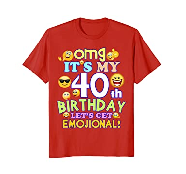 Amazon Mens Its My 40th Birthday Funny Emoji T