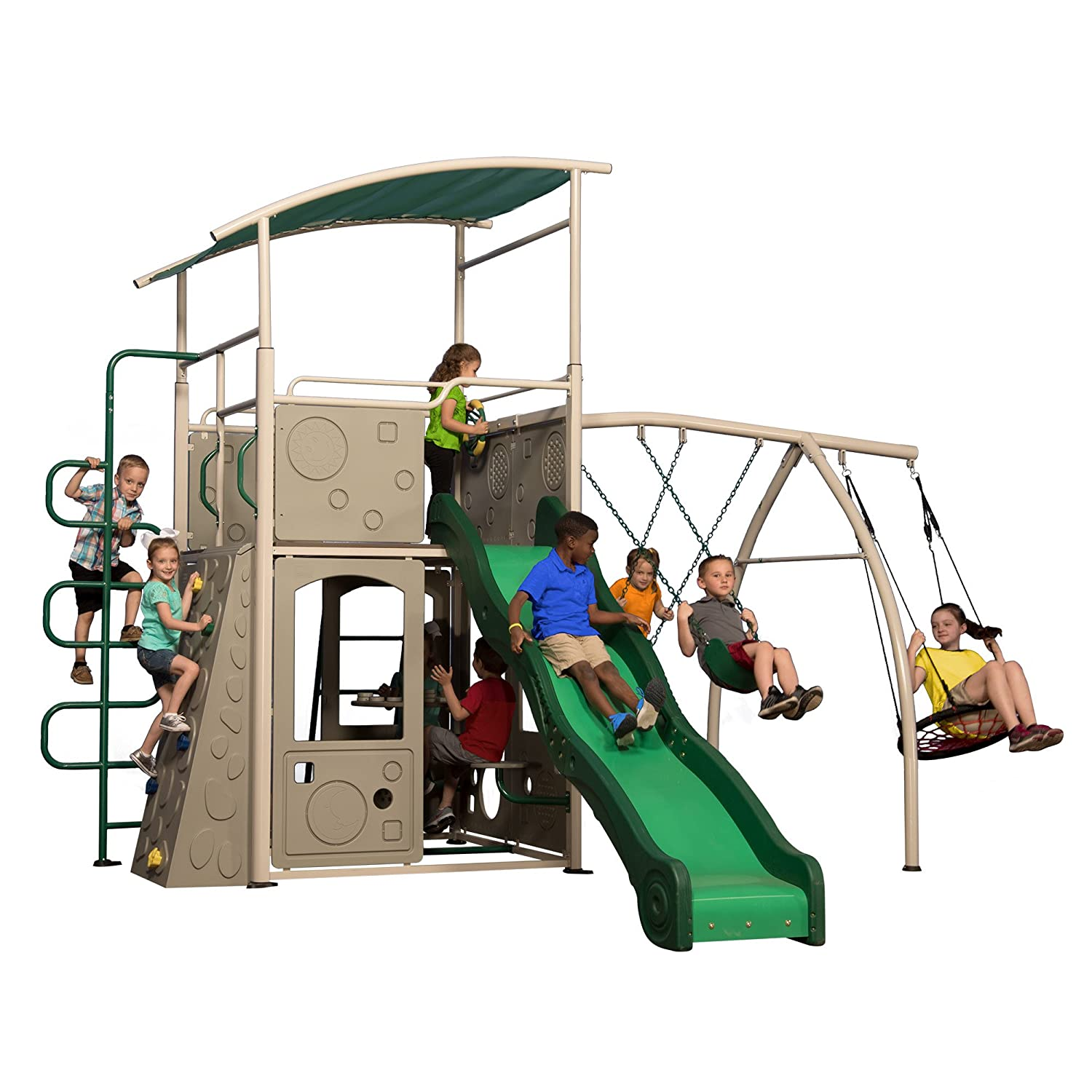 Backyard Discovery metal swing set