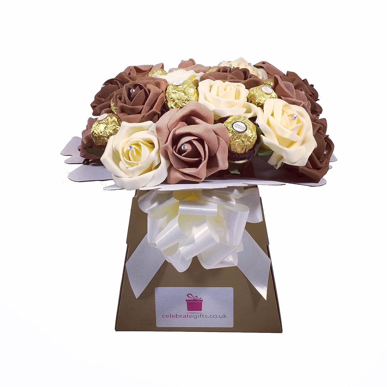 Luxury foam roses and ferrero rocher chocolate bouquet amazon luxury foam roses and ferrero rocher chocolate bouquet amazon grocery izmirmasajfo Images