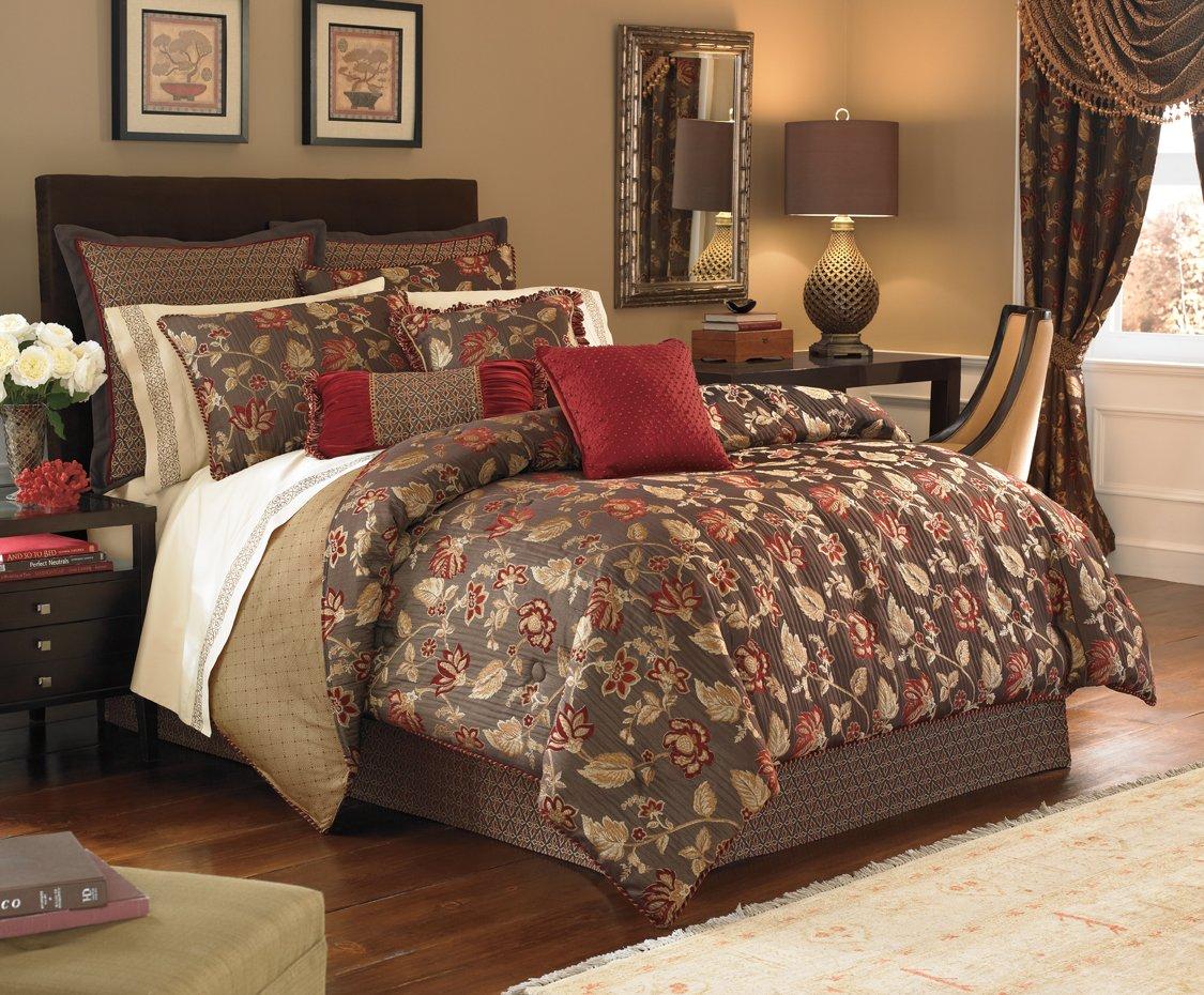 amazoncom croscill home fashions jovanna 4piece comforter set queen truffle home u0026 kitchen