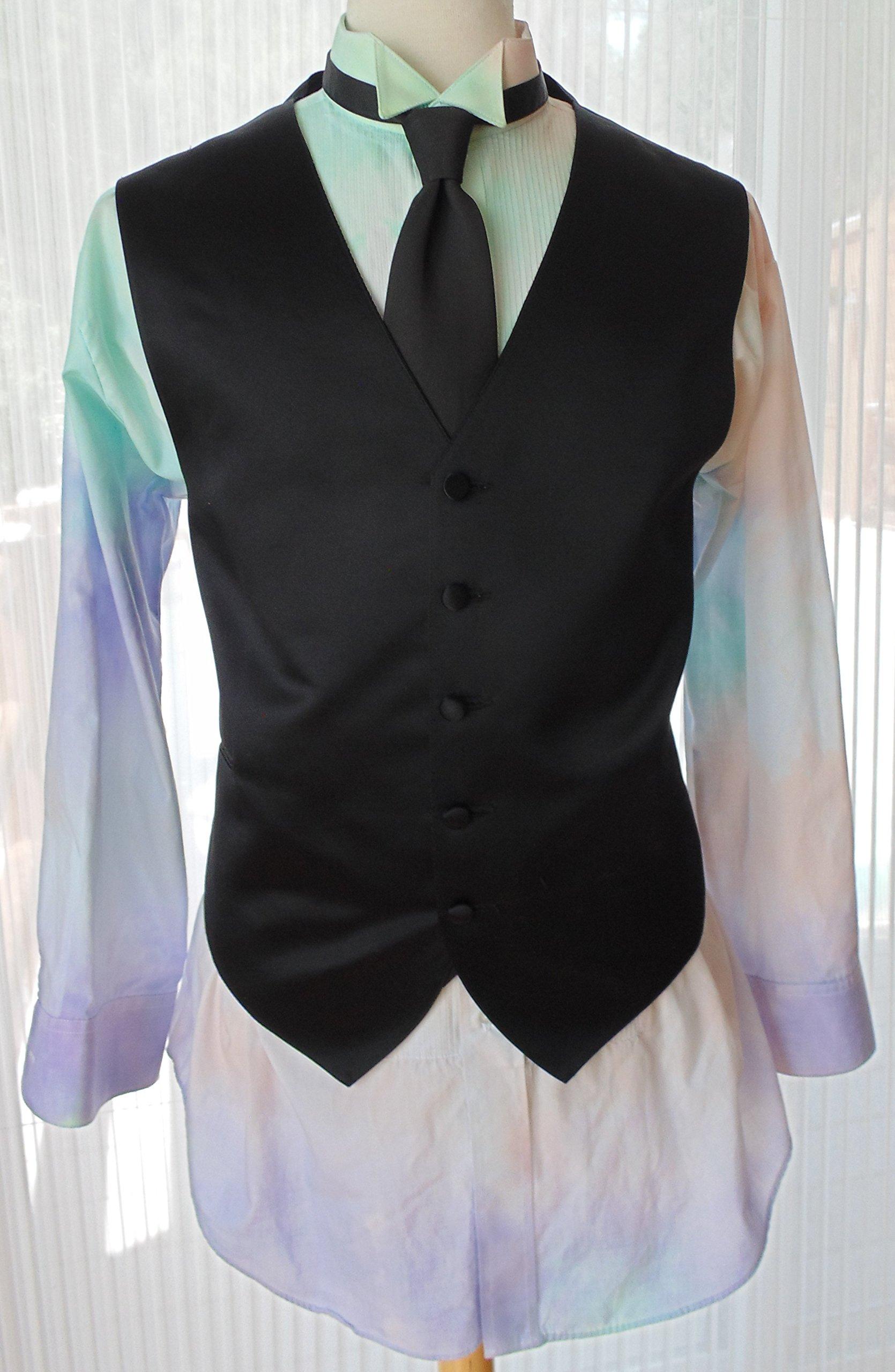 Men's XL 32-33 Hand Tie Dye Tuxedo Shirt