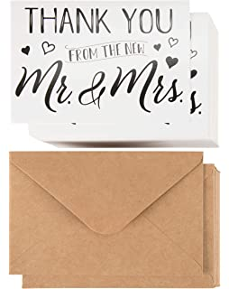 wedding thank you cards 120 pack thank you from the new mr and