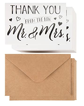 Amazon.com: Tarjetas de agradecimiento de boda – 120 ...