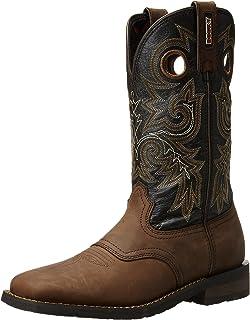dda9e059ddd Amazon.com | 4982 Rocky Men's HandHewn Sole Western Boots - Brown ...