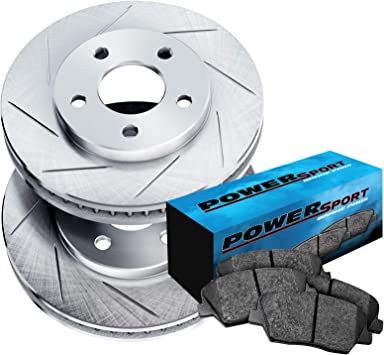 Fit 2004 Infiniti FX35 FX45 Front Rear PowerSport Drilled Brake Rotors