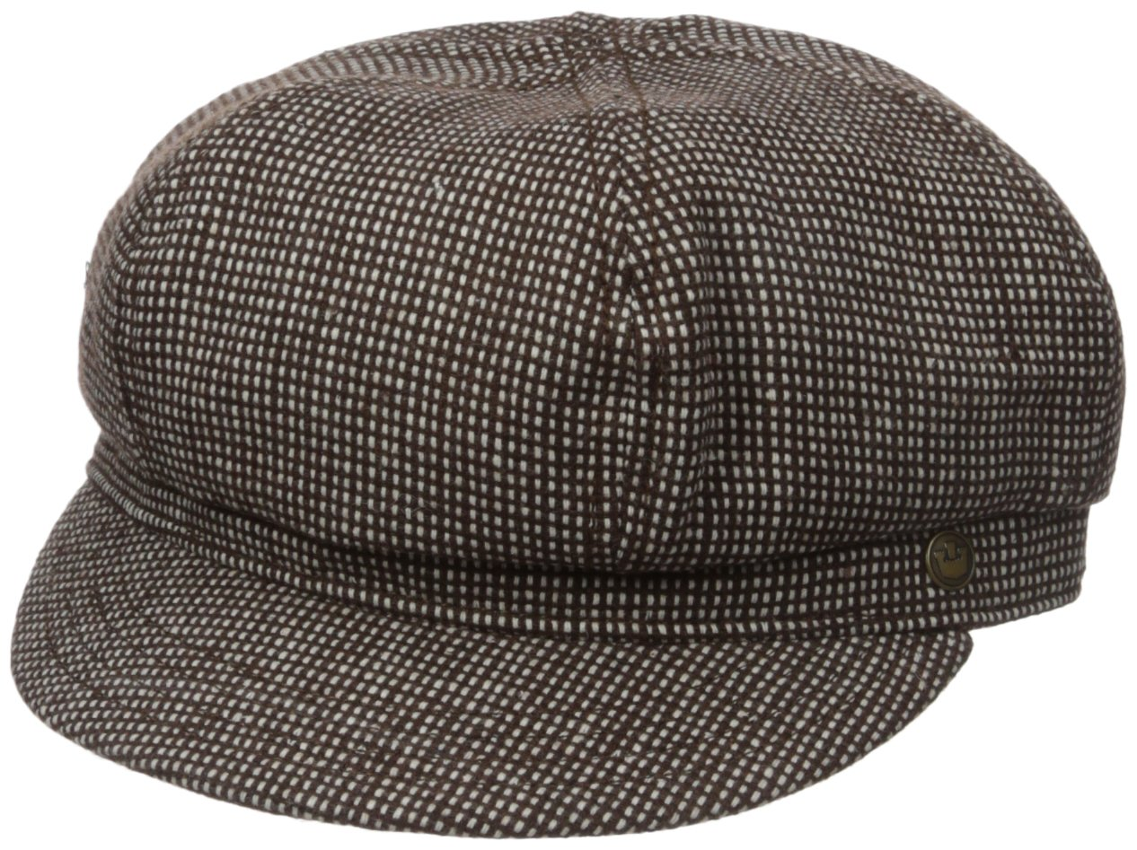 Goorin Bros. Women's Paige Six-Panel Cabbie Hat with Adjustable Closure, Brown, One Size