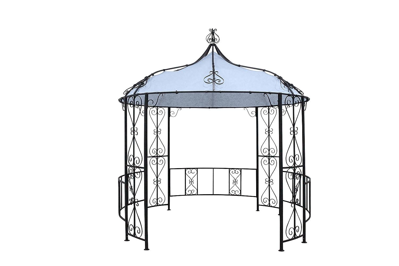 Leco Pavillon Schlossgarten, schwarz, 300 x 365 x 1 cm, 14111114
