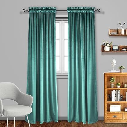 Living Room Blackout Velvet Curtains