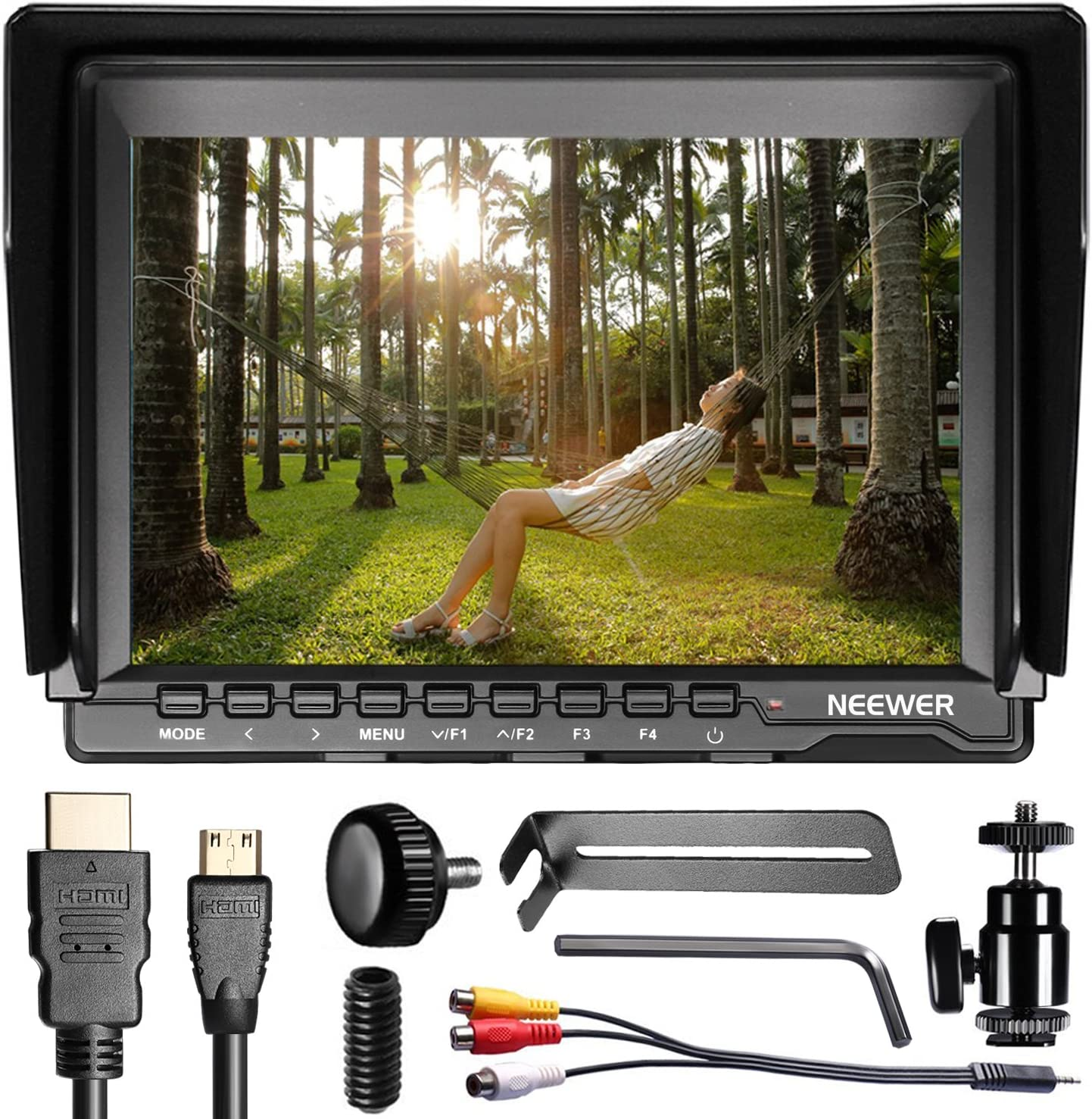 Neewer Nw759 7 Zoll 1280x800 Ips Bildschirm Kamera Kamera