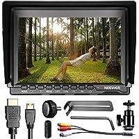 Neewer NW759 7 Zoll 1280x800 IPS Bildschirm Kamera Field Monitor mit 1 Mini HDMI-Kabel für BMPCC, AV-Kabel für FPV, 16:10 oder 4:3 verstellbare Display Übersetzung für Sony Canon Nikon Olympus Penta (Netzanschluss und Batterien nicht Enthalten)
