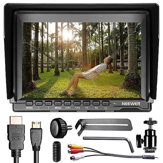 8 opinioni per Neewer Monitor da Campo 7pollici On-camera Schermo IPS 1280x800 con Cavo Mini