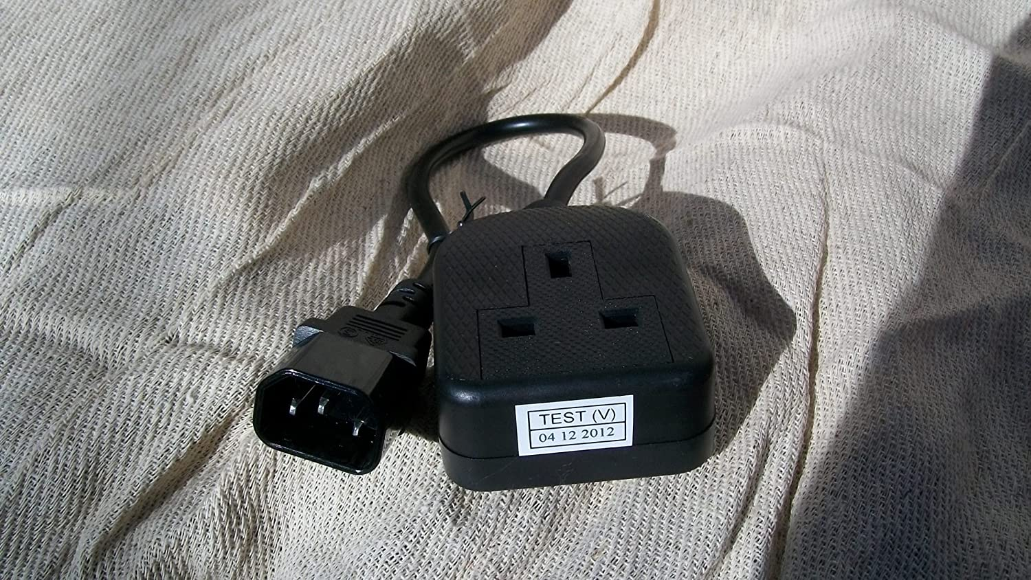 Power Cable Iec C14 Plug 13a Socket 45 Cm With Ce Mark Uk Plugs Bs1363 Old Colour Wiring How To Wire A Approval Computers Accessories