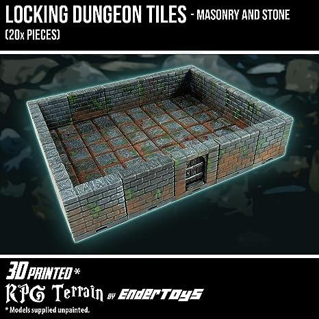 amazon com locking dungeon tiles masonry and stone terrain