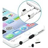 PortPlugs - Aluminum Finish Dust Plug Set - Charger and Headphone Jack Plugs- Compatible iPhone 5, SE, 6, 6s, Plus, iPad Air, iPod 5, 6 – Includes Holders