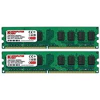 Komputerbay 4Go (2 x 2Go) DDR2 800MHz PC2-6300 PC2-6400 DDR2 800 (240 PIN) DIMM ordinateur de bureau Mémoire