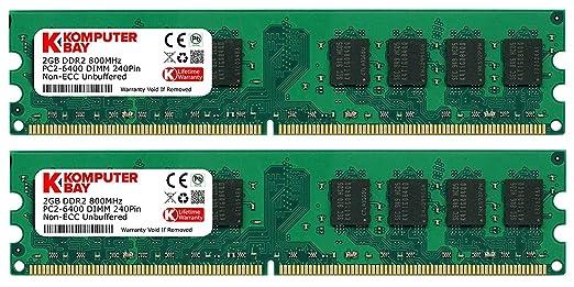 1075 opinioni per Komputerbay 4GB 2X 2GB DDR2 800MHz PC2-6300 PC2-6400 DDR2 800 (240 PIN) DIMM