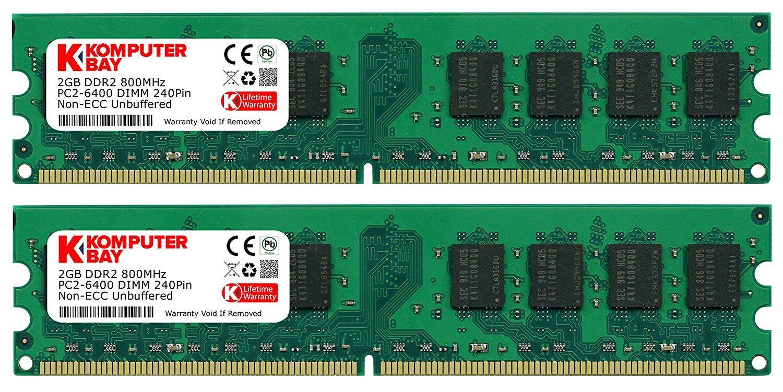 Memoria Ram 4gb Komputerbay 2x 2gb Ddr2 800mhz Pc2-6300 Pc2-6400 Ddr2 800 (240 Pin) Dimm