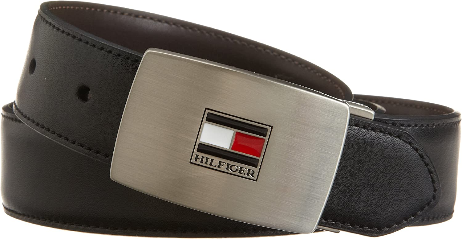 Tommy Hilfiger Belt Gift Set - Reversible Leather Belt for Men With 2 Adjustable Buckles