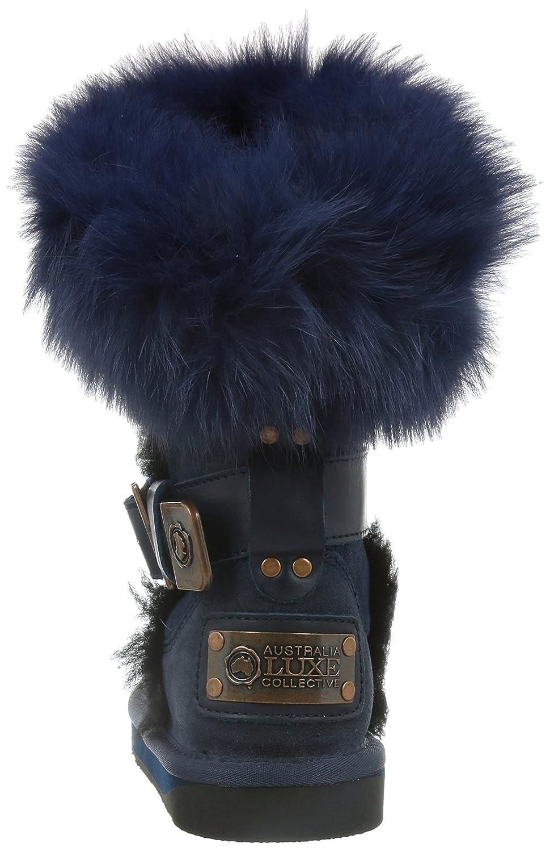 Australia Luxe Collective Womens Tsar Short Fox Fur Sheepskin Winter Boot IRIS 9 TSA203AG215