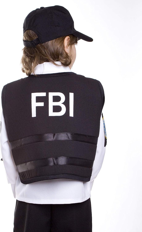 Dress up America Disfraz de Agente del FBI para niño: Amazon.es ...