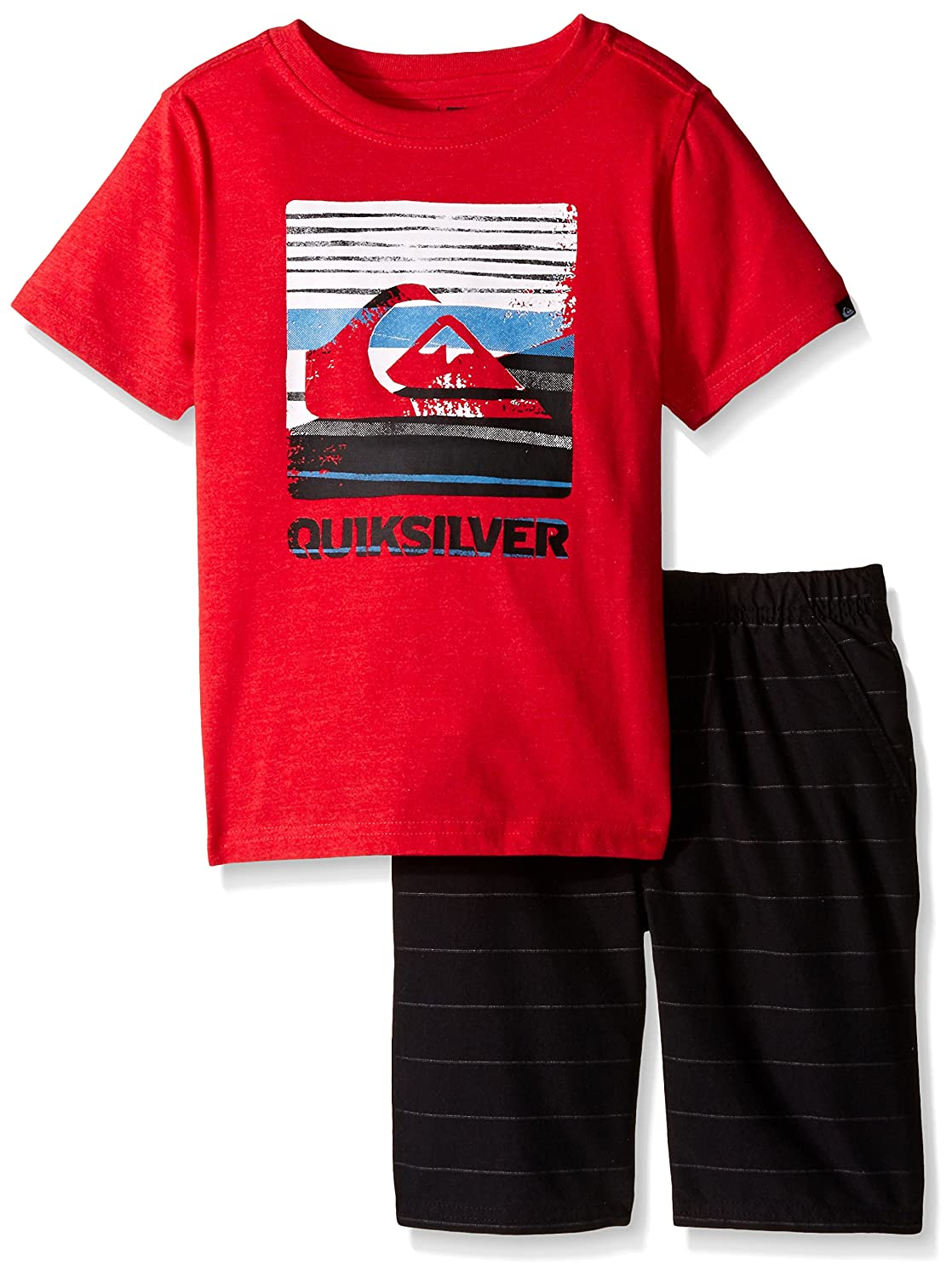 Quiksilver Little Boys' 2 Piece Graphic Tee with Short Set Quiksilver Boys 2-7 QUISBA-200A