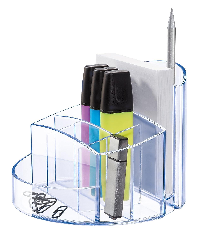 : 14,0 x 14,0 x 10,9 cm HAN Schreibtischk/öcher RONDO Stabiler Stiftebeh/älter mit 9 F/ächern inkl BxTxH Blau praktischem Briefschlitz und Gummif/ü/ßen