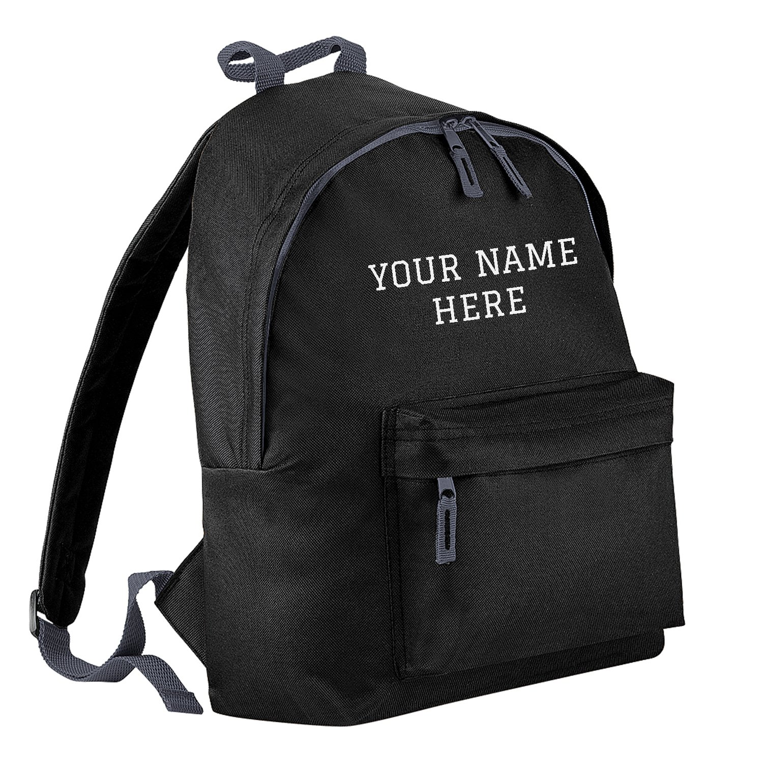 0361479395cd Personalised Kids Backpack - Black - Custom Name Text Print  Amazon.co.uk   Shoes   Bags