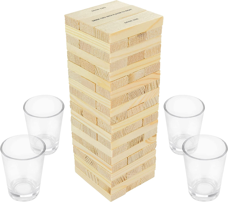 Fairly Odd Novelties Dunken Blocks Shot Glass, Brown by Fairly Odd Novelties: Amazon.es: Hogar