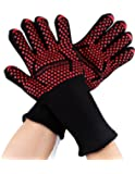 """Holly LifePro 665°F Extreme Heat Resistant Gloves, BBQ Grilling Cooking Gloves, 1 Pair, 14"""" Long for Extra Forearm Protection(L-XL)"""