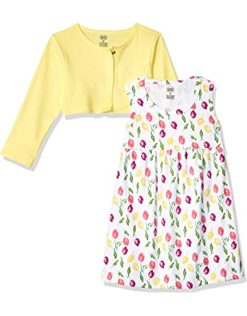 580491c170 Luvable Friends Baby Girls  Dress and Cardigan Set.  2