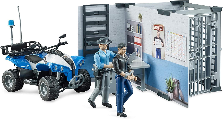bruder 62730 Bworld Polizeistation, Mehrfarbig: