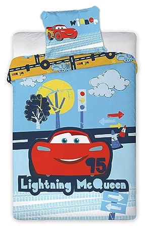 Cars Flash McQueen Linge de lit Bébé Housse de couette 135 x 100 on