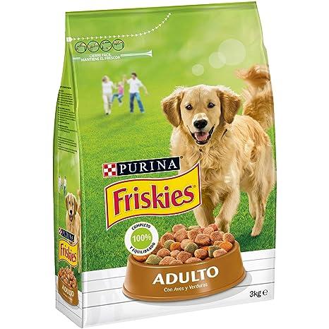 Purina Friskies Pienso para Perro Adulto Aves y Verduras 4 x 3 Kg