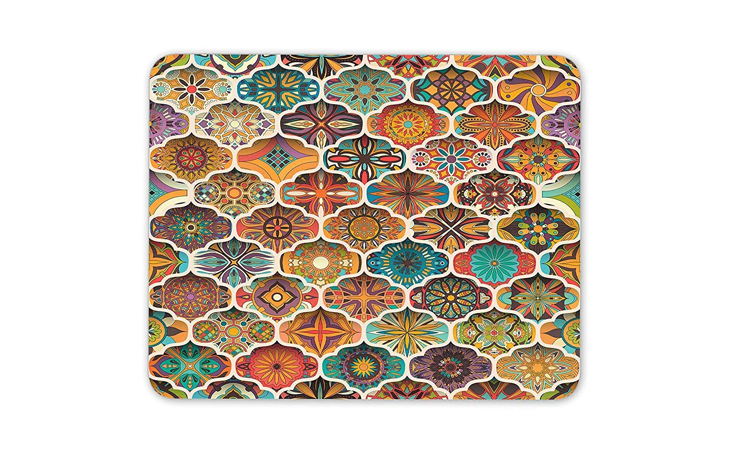 Amazon Com Ethnic Floral Mandala Mouse Mat Pad Pretty Rug