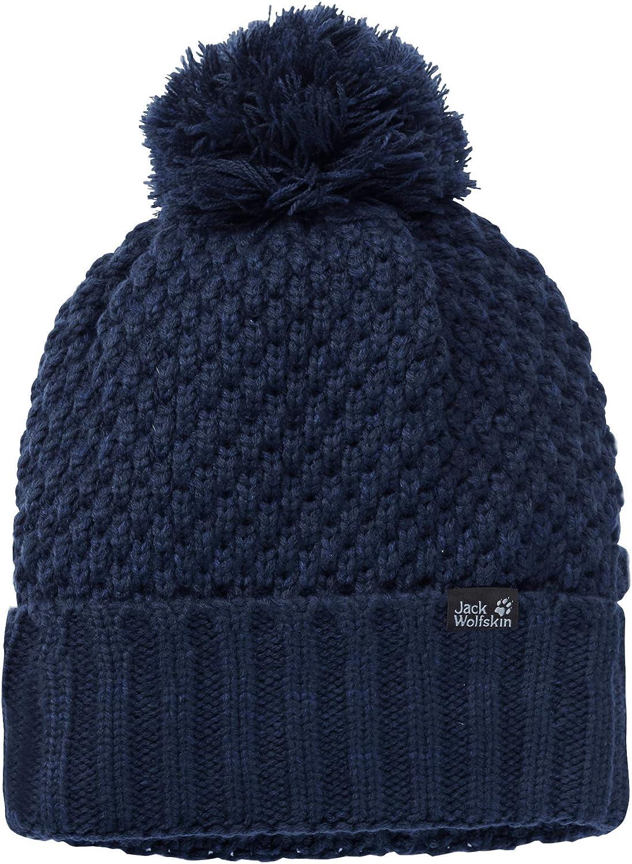 Jack Wolfskin Narita Pompom Mütze für Damen Blau