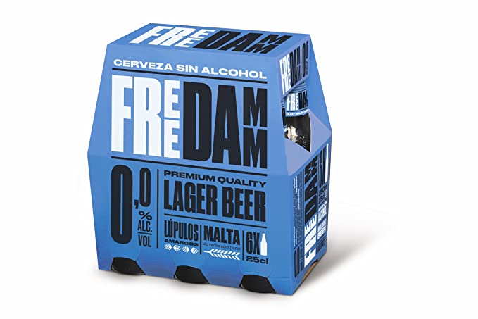 Free Damm - Cerveza sin alcohol - Pack 6 Botella 25 cl