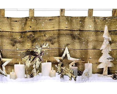LED Scheibengardine Bistrogardine Christmas Weihnachten 45x120 cm beleuchtet