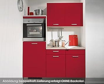 Amazon.de: Singleküche Rot Leonie links, 160cm breit inkl ...