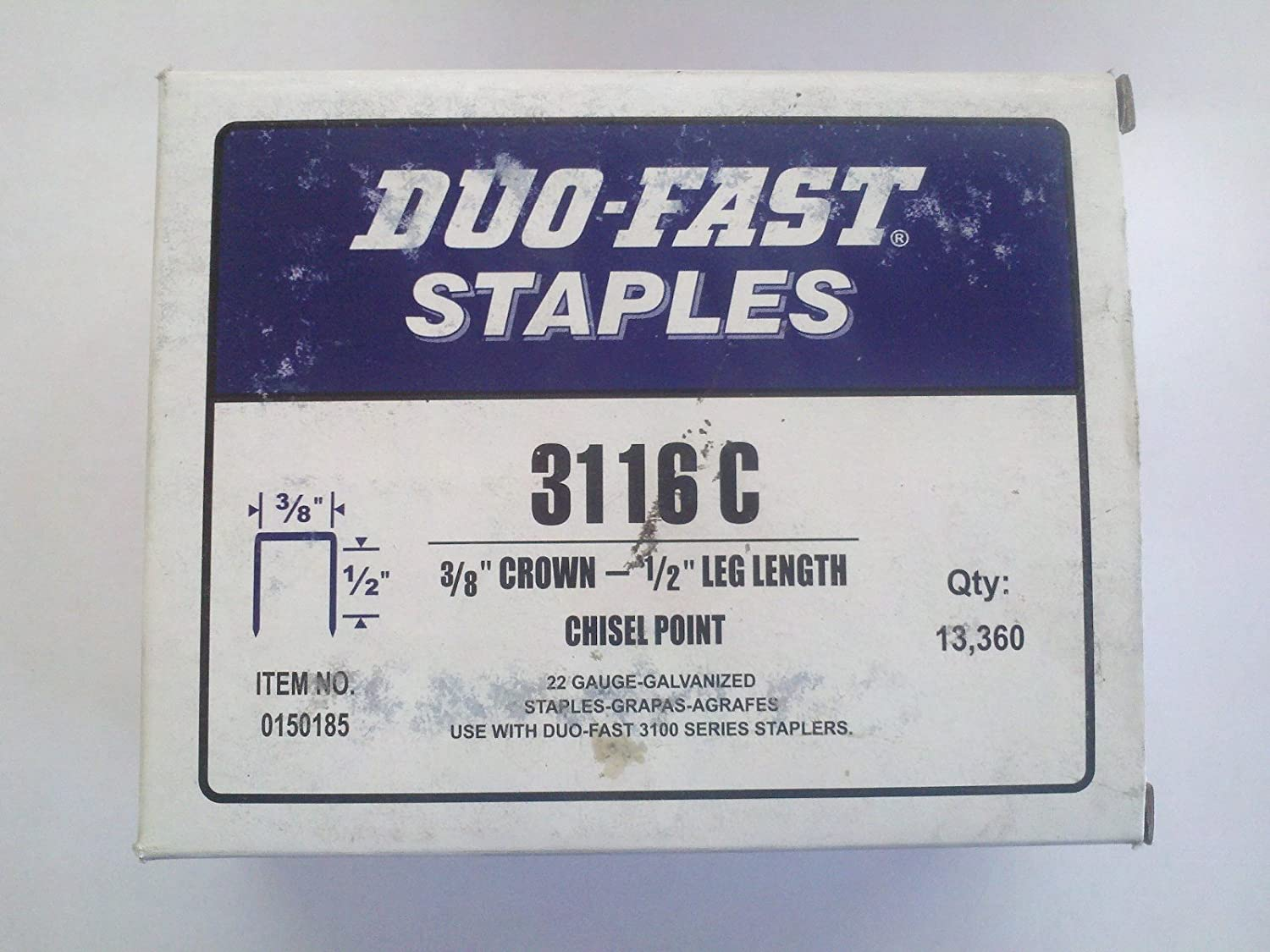 Amazon Com Duo Fast 3116c Fine Wire Upholstery Staples 1 2 Home