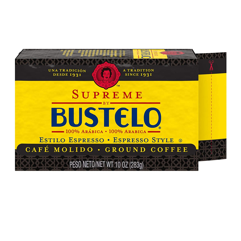 B009LHW4MK Supreme by Café Bustelo Coffee Espresso Style Ground Coffee Brick, 10 Ounces (Pack of 12) 81B0jPt-7fL