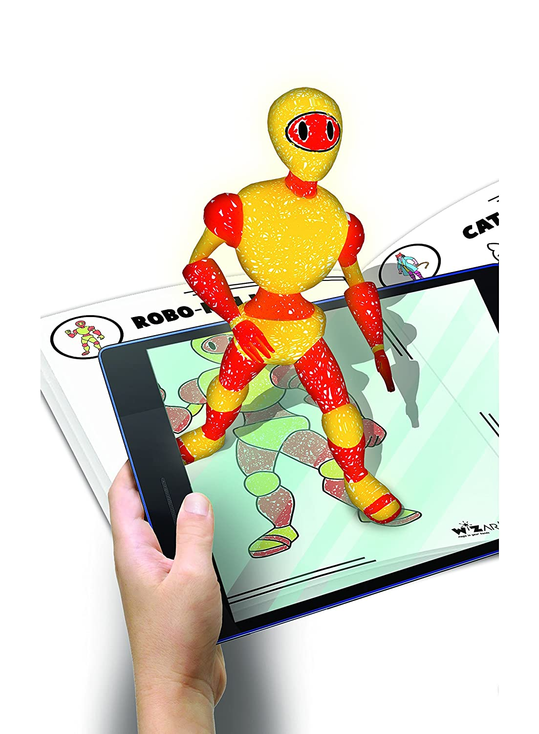 Amazon.com: WizarKids 4D+ Augmented Reality Coloring Book ...