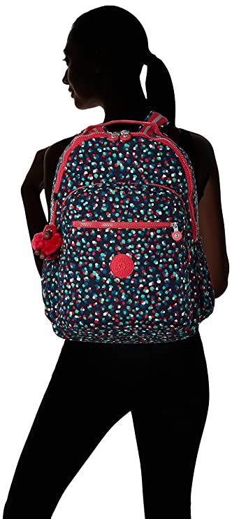 Amazon.com: Kipling Seoul Up Large Backpack With Laptop Protection Pink Summer Pop: The Necessity limited