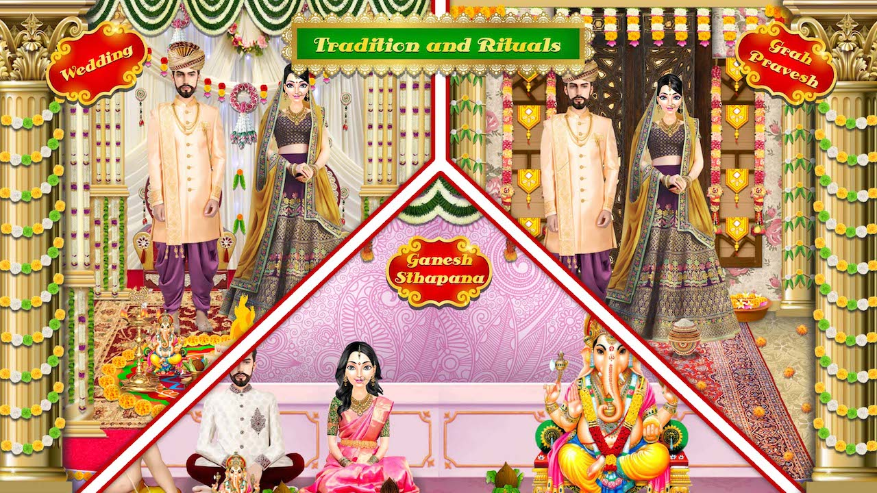 Amazon.com: Royal Indian Wedding Girl Arrange Marriage Rituals ...