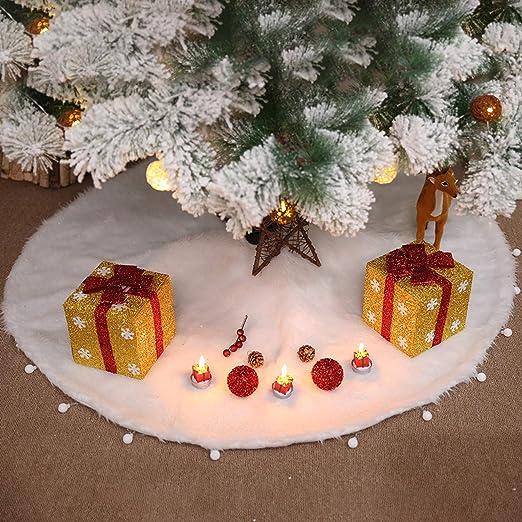semen Falda de árbol de Navidad de Felpa, Adorno de árbol de ...