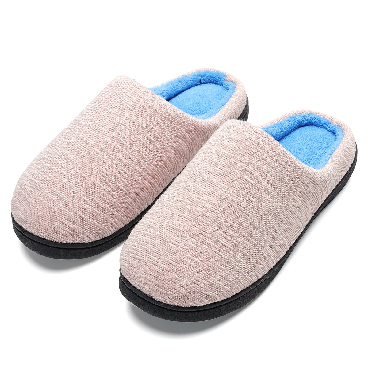 INFLATION Women's Comfort House Slippers Two-Tone Memory Foam Indoor & Outdoor Anti-Skid