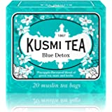 Kusmi Tea - Blue Detox - A Blend of Green Tea, Mate, and Rooibos with Savory Pineapple - All Natural, Sugar Free…
