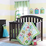 Pem America Laura Ashley Owlphabet Sage Crib Set